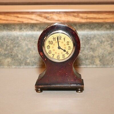 Vintage  Alarm Clock - Marked K on Bottom - Red
