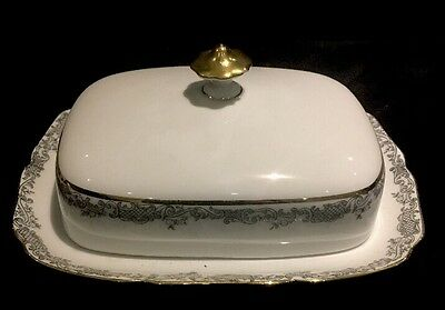 Hutschenreuther Hohenberg Covered Butter Dish with Lid Germany 1814 CM