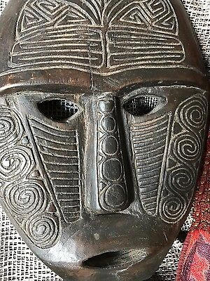 Old Sumatra Carved Wooden Mask / Wall Hanging  …beautiful collection / accent...