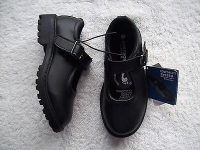 BNWT Girl's Black Leather Mary Jane School Shoes Size 11
