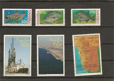 lot NAMIBIE NAMIBIA  ; 24  timbres neufs 3 scans trains papillons poissons