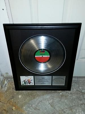 ABBA THE ALBUM Platinum Record Framed Atlantic Records American Academy Music
