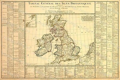 1783 OLD Antique Map of Western Europe The British Isles Scotland Ireland map