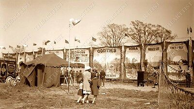 Rare Cole Bros Brothers Circus Sideshow Oddities Carnival Midway Freaks Photo