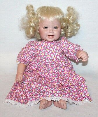 "Adora 20"" Little Lovey Baby Toddler Blonde Doll GIRL Laughing Reborn Style CUTE"