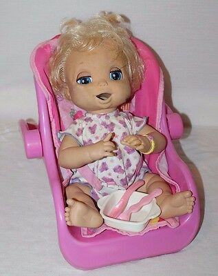 Lot 2006 Hasbro Baby Alive Soft Face Doll Carrier Clothes Bottle Dishes WORKS