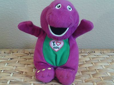 "Barney I Love You Musical 10"" Soft Toy 2007 Barney Lyons - Vgc"