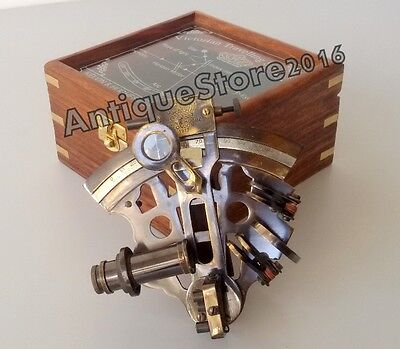 Nautical Marine Brass Maritime Sextant Antique Finish Navigational 4 inch Gift .