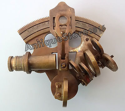 "Nautical Solid Brass Sextant Maritime Navigation Marine Instrument 3"" Best Gift"