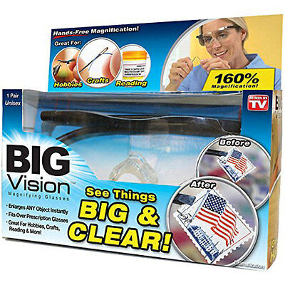 Unisex Big Vision  Reading As Seen On TV Clearer Magnifying Glasses Eyewear