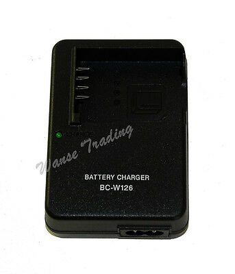 New BC-W126 Battery Charger for Fujifilm NP-W126 Battery & X-Pro1 HS30 HS33