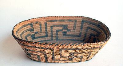 VERY FINE ANTIQUE PIMA INDIAN BASKET WILLOW 1930s Old Native American Basket