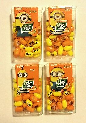 4 x LIMITED EDITION DESPICABLE ME 3 MINION TIC TAC 24g - Fast & Free post