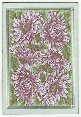 Playing Cards Single Swap Old Antique GOODALL Wide Square Corner DAHLIA FLOWERS