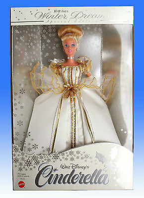 BARBIE CINDERELLA winter dreams 1997 DISNEY MATTEL NRFB NUOVA PERFETTA