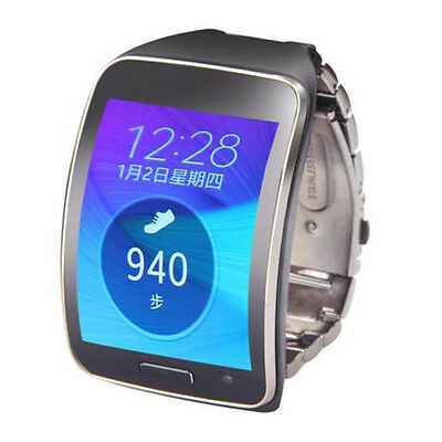 Stainless Steel Watch Band WristStrap For Samsung Gear S SM-R750 Black T2X6