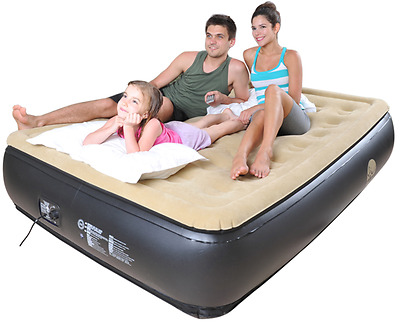 Inflatable Camping Outdoor Air Bed Mattress Airbed Built In Electric Pump Rest