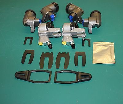 Set Of Front & Rear Wheel Cylinders & Clips Austin A55 & A60 Cambridge 1957-1971