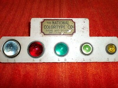 """OFFER$!! OLD! Antique Salesman Sample """"GLASS CAT EYE REFLECTOR DISPLAY"""" CATEYES"""