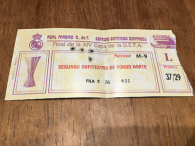 Entrada Ticket Final Uefa Real Madrid Spain Videoton Hungary 1984 1985