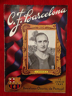 Programme Barcelona Spain Oporto Porto Portugal 1949 Friendly