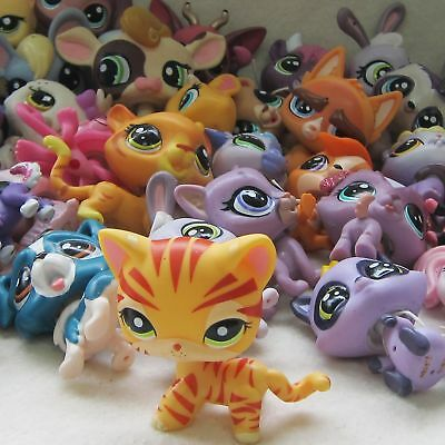 6x Littlest Pet Shop Animal Collection LPS Figure Loose #1451 Cat Dog Toy Random