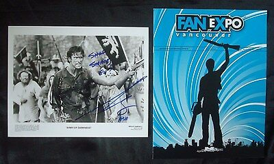 **BRUCE CAMPBELL**Autograph ARMY Of DARKNESS Press Kit Photo ASH vs Evil DEAD