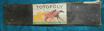 Totopoly by the Manufacturers of Monopoly early vintage horse racing board game