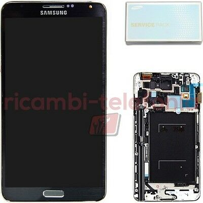 schermo vetro touchscreen originale Samsung Note 3 nero display touch lcd N9005