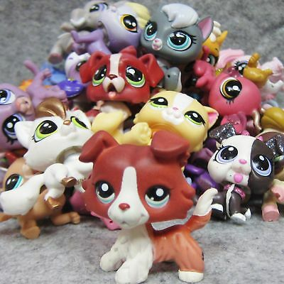 6x Littlest Pet Shop Animals LPS Loose Figure #1542 Collie + Cat Dog Toy Random