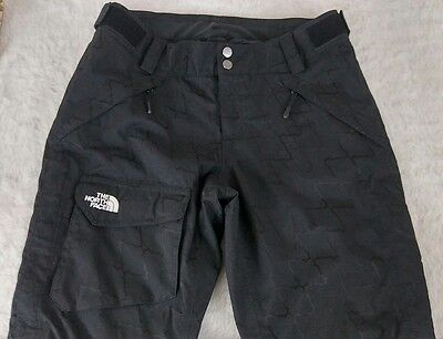 The North Face Black Hyvent Insulated Ski Snow Pants Women's S/P Waterproof (Q2)
