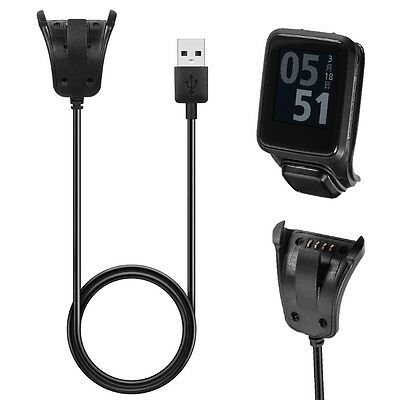 Data Sync USB Clip Charger Charging Cable For TomTom 2 3 Runner Golfer GPS Watch