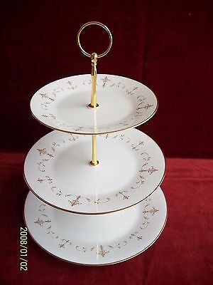 Noritake  #  Courtney 6520 ( 3 Tier Cakestand )