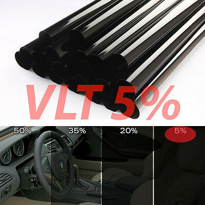 """Uncut Window Tint Roll 5% VLT 25"""" in 100ft feet Home Commercial Office Auto Film"""