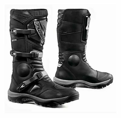 Forma Adventure Black Motorcycle Touring Boots Waterproof Size 45 EU