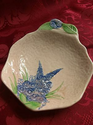 H A Waine & Sons Ltd Vintage Floral Pin Dish Earthen Ware Trinket Dish 1950's