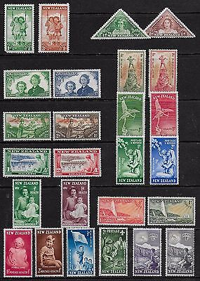 New Zealand 1942 to 1954 Health Stamps issues complete - MH