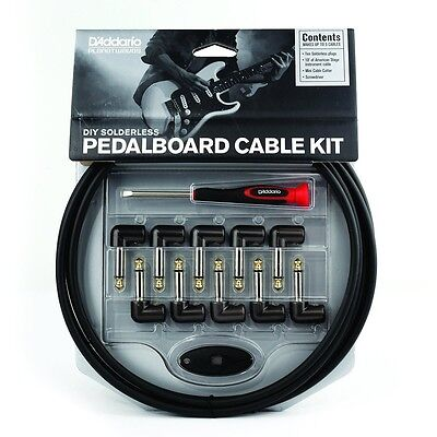 Planet Waves DIY Solderless Pedalboard Cable Kit, 10 ft, 10 Plugs