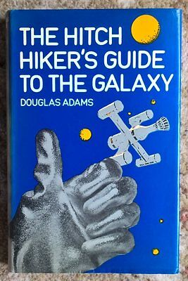 The Hitch Hiker's Guide to the Galaxy, Douglas Adams, 1st first edition 1979