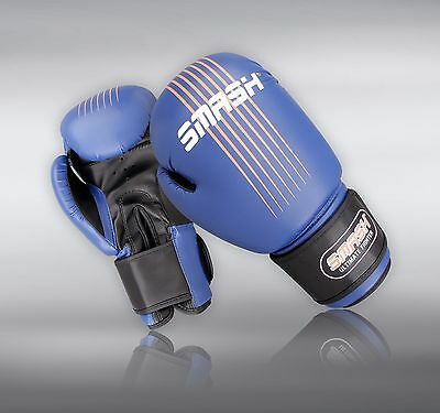 BRAND NEW - Excellent, BLUE Rx Leather Boxing Gloves, 12 or 16 oz: RRP £19.99