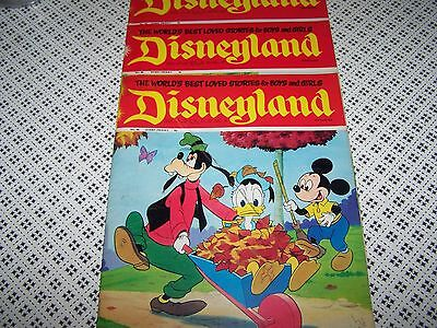 DISNEYLAND Vintage 1971 Disney Magazine No 77/80/81