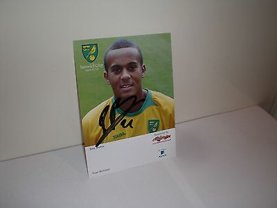 Norwich City signed club card 2008-2009 NCFC Ryan Bertrand