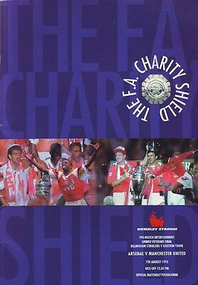 Arsenal v Manchester United 7/8/93 F.A. Charity Shield
