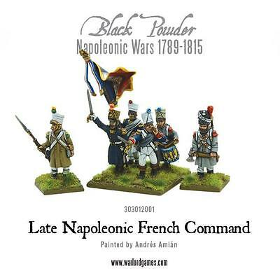 Black Powder - Napoleonic French Late Line Infantry Command (6) (28mm scale)