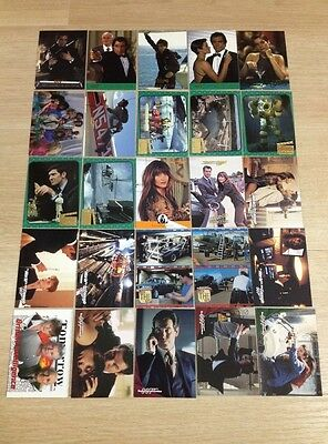 007 James Bond Films Bond Girl Trading cards 25 sheets Inkworks