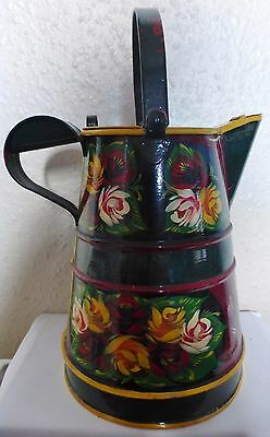 Hand Painted Water Can Buckby Can, Canal Ware, Narrow Boat, Barge  (Bx6)