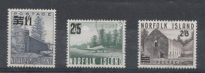 Norfolk Island surcharges set of 3 fine used