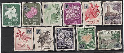 Norfolk Island decimal overprints to 50c fine used