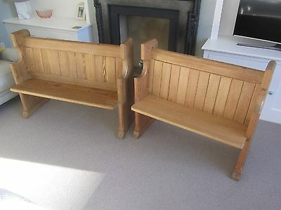 2x Small church pews/bench/rustic/dining (will split)