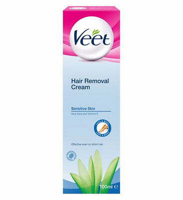 Veet Hair Removal Cream with Aloe Vera & Vitamin E for Sensitive Skin 100ml